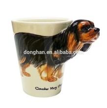 OEM AND ODM dog shaped ceramic coffee mug for gift