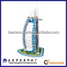 world famous building 3d paper model puzzle