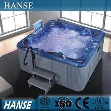 HS-SAP016 Jetted tub hydro spa/sex body massage spa/square sex massage hot tub