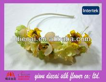 Natural look artificial flower headband