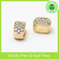 crystal flat custom engraved metal beads