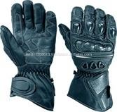Black Motorbike Well Vantilated Gloves