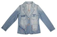 Women's fashion blue denim jackets