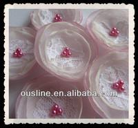 "Fabric flowers 1.5"" flower wedding flowers bridal bride bridesmaid aqua wedding table decoration"