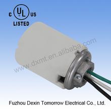 "MT1800(white glazed with three wires+G1/2"" cap) UL+CUL Edison screw E39 ceramic mogul socket"