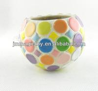 K-GLS 214 DIY Craft Ceramic Mosaic Candle Holder