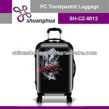 black lightweight pc trolley case
