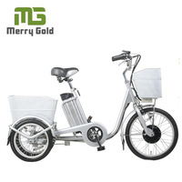 buy 3 wheel electric bike with basket for older made in China