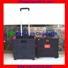 2 Wheel Plastic Shopping Folding Cart Trolley