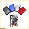 color box packing aluminum metal wallet