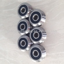 SW4 2RS 15mm bore 9Cr18Mo(440C) Stainless Steel Dual V Guide Wheel Stainless Double Row Angular Contact Ball Bearings