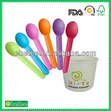 cheap colorful plastic yogurt spoons wholesale