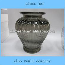 transparente e cinza grande teal vidro frutas secas com nervuras de armazenamento baratos frascos de vidro