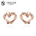 Symbole de eternity amour valentine coeur boucles d'oreilles