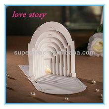 unique 3d pop up laser cut wedding invitation card models wholesale