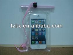 Transparent Plastic Bag Mobile phone Clip lock Waterproof Bag