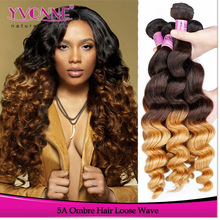 Top Quality Unprocessed Virgin Peruvian Ombre Hair Weaves