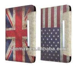 Retro Flag Leather Stand Case For iPad Mini 2 leather