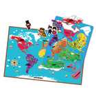 2014 hot brand new for kids world map puzzle creative magnetic learning educational toys world map