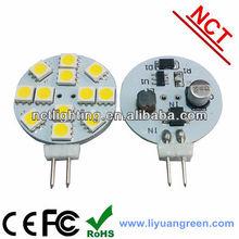 g4 led bulbs lamp AC/DC10-30V 12SMD5050 high power dimmable 2700K