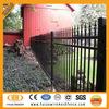 Galvanized and PVC coated decorative wrought iron fence