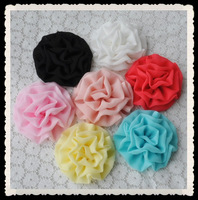 amazing quality cabbage chiffon flower for DIY suppliers,hair accessories