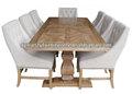 antique madeira reciclada mesa de jantar francês