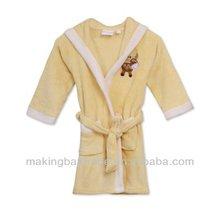 High quality cotton animal pattern kids used bathrobe