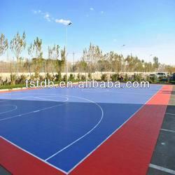 outdoor interlock basketball flooring court