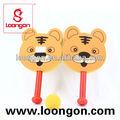 loongon venda quente funning tigre raquete esponja brinquedos