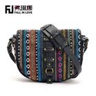 2014 national pattern textile designs women vintage shoulder bags PU handbag manufacture