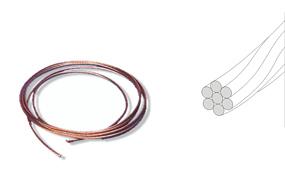 Rigid copper conductor wire with pvc insulation