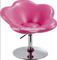 Pink flower leisure chair