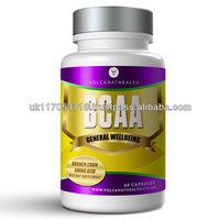 BCAA 3000mg Amino Acid Capsules Sport Gym Supplement Pills in Volcanat Health Premium Bottles