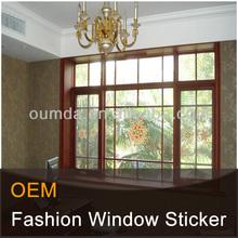 window static cling sticker with glitter