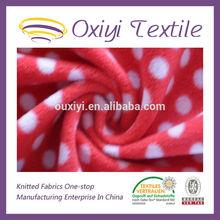 printed organic flannel knit fabric