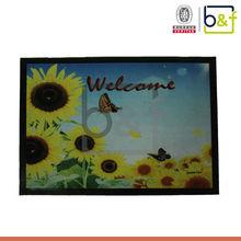 Cheap new design sunflower PVC printing doormat