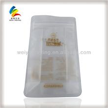 flat bottom plastic bags,plastic bag matte finish,zip lock bag with side gusset