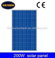Home use solar panel 200w poly pv solar module