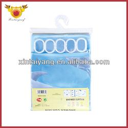 Blue Dolphin Design shower Curtains ,folding bath Drapes,plastics products in bathroom