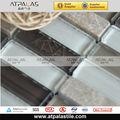 Nuovo stile a basso prezzo pietra piastrelle mosaico mix di vetro personalizzati, vetro e punte piastrelle