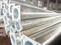 Diseño agradable galvanizado acero q235certificado calle las columnas de iluminación, luz de la calle de la lámpara de correos