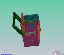 Indoor outdoor polycarbonate meter box