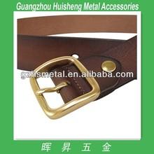 High quality polished natural brass solid belt buckles