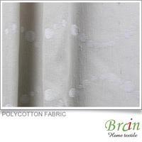 Beautiful Polycotton embroidery cotton lace curtain fabric