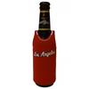 red neoprene beer bottle koozies