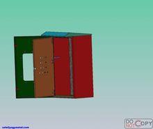 Indoor outdoor electric meter box lock