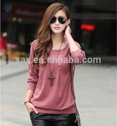 orange loose ladies T-shirt fashion cotton shirt kurti