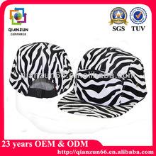 Wholesale zebra custom 5 panel cap hat