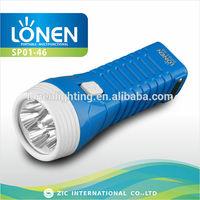 LONEN 5 led high power emergency plastic best rechargeable flashlight